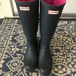 Hunter Rain Boots Tall Back Adjustable